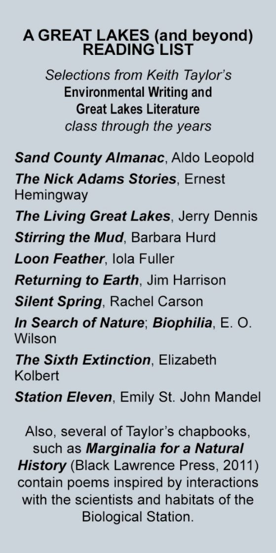 a list of books from the Environmental Writing syllabus
